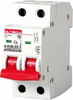 Модульный автоматический выключатель e.mcb.pro.60.2.C 6 new, 2р, 6А, C, 6кА (арт. p042015), фото 1