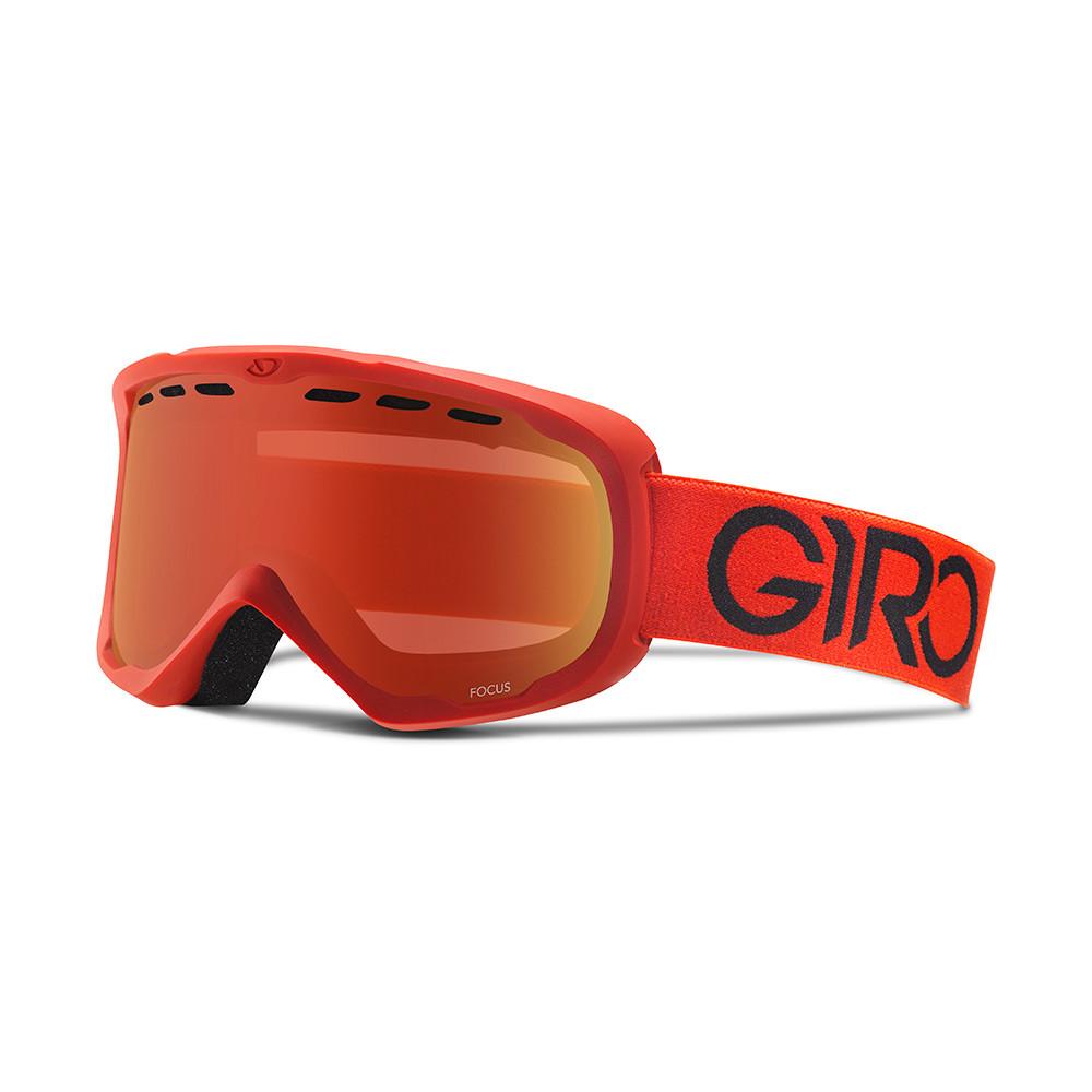 Горнолыжная маска Giro Focus Flash красная Solo, Amber Scarlet 40% (GT)