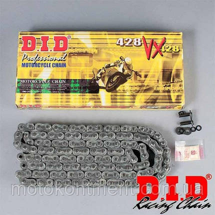 Мото цепь  428 DID  428VX 120  стальная сальники типа X-Ring, фото 2