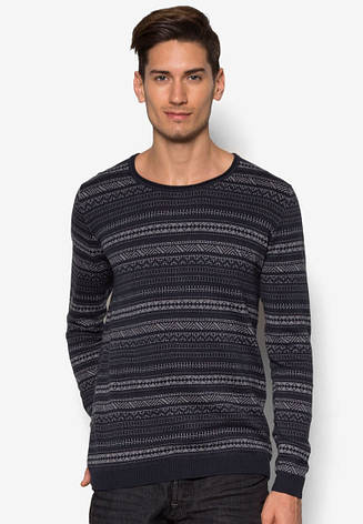 Мужской тонкий вязанный свитер Eduward от !Solid в размере L, фото 2