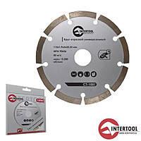 Intertool CT-1002 Диск отрезной сегментный, алмазный 125мм 16-18%
