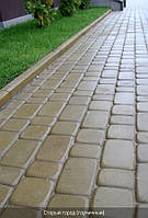 Тротуарная плитка «Старый город» 4 см, горчичный