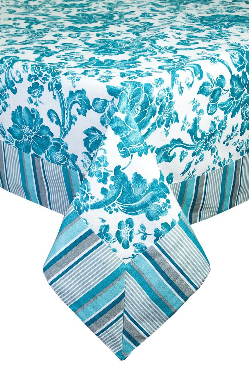 Скатерть с кантом Allure blue 220х140см