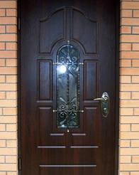 Уличные двери с ковкой и винорит покрытием 2
