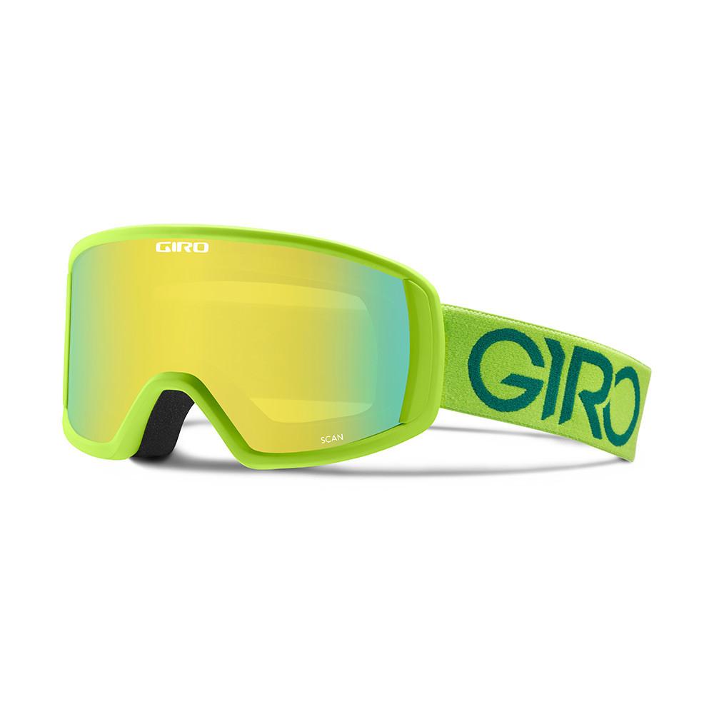 Горнолыжная маска Giro Scan лайм/зелёная Dual, Loden yellow 20% (GT)