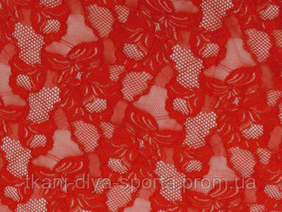 Стрейч-гипюр CHRISANNE (Англия) красный (cascade red)