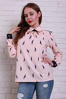 Молодежная  блузка с принтом