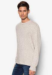 Мужской длинный тонкий вязанный свитер Emeka от Solid в размере L 50/52