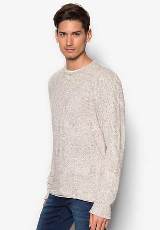 Мужской тонкий вязанный свитер Emeka от !Solid в размере L, фото 2
