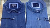 Рубашка мужская джинсовая Lexus jeans классическая джинсовая рубашка длинный рукав