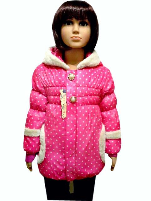 Демисезонная куртка горошек