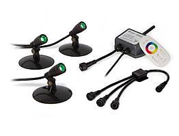 Компактні світлодіодні прожектори SOLCC2X3, 3шт, 3-7.5 Ватт