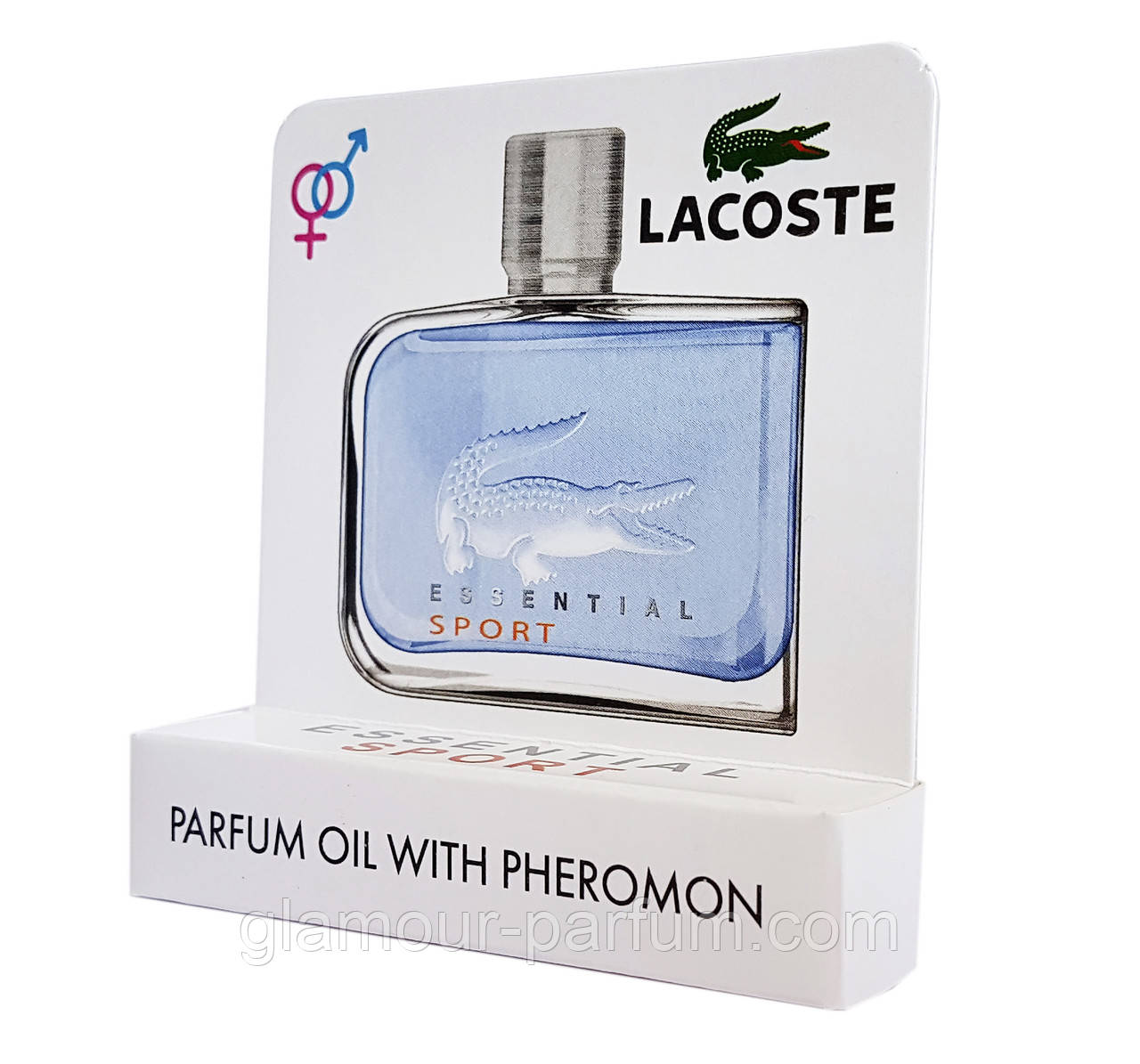 Мини парфюм с феромонами Lacoste Essential Sport Pour Homme (Лакост Эсэншал Спорт) 5 мл  (реплика)