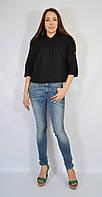 Женский жакет с вышивкой, черный, 48-52 р-ры
