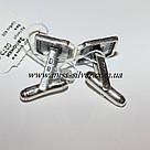 Серебряные запонки с черными фианитами Алекс, фото 3