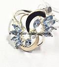 Комплект серебряный с голубым цирконом Фламинго, фото 3
