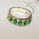 Комплект серебряный с зелеными фианитами Регина, фото 2