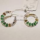 Комплект серебряный с зелеными фианитами Регина, фото 3