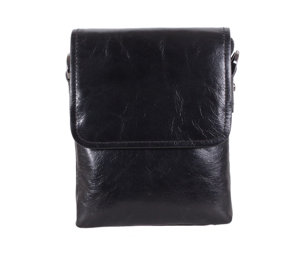 Мужская кожаная сумка SAL825 черная