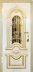 Дверь уличная серия Престиж с ковкой и патенированием и замок МОТУРА