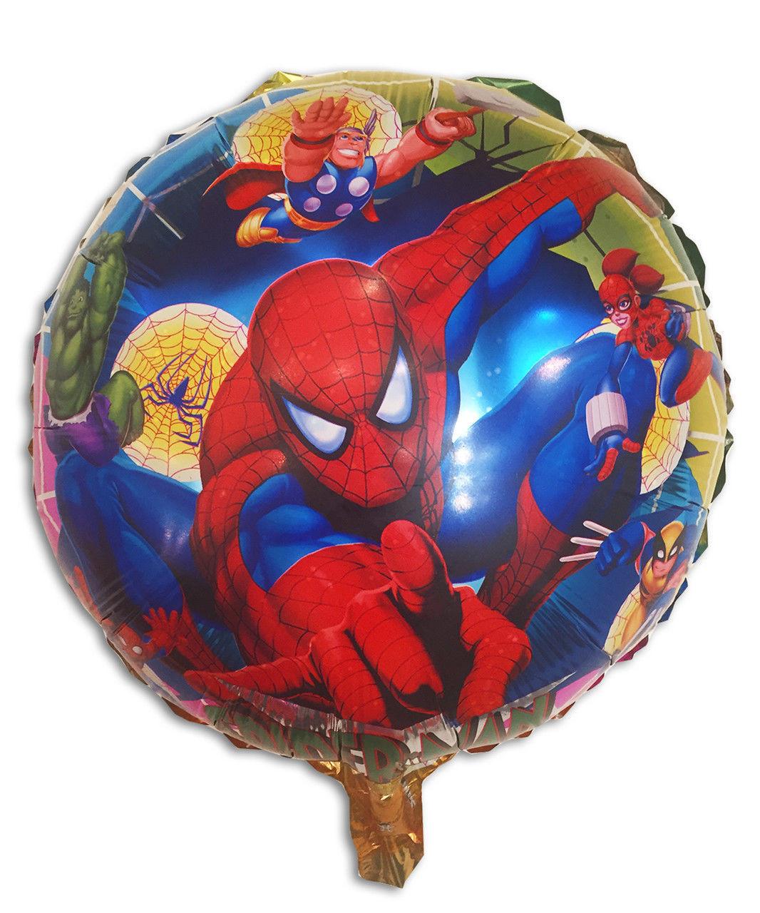 "Куля фольгована кругла ""Людина Павук"", 45 см"
