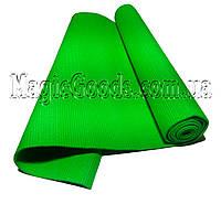 Коврик для йоги (йога мат) 4мм Зеленый