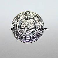 Серебряная монета сувенирная Денежный магнит