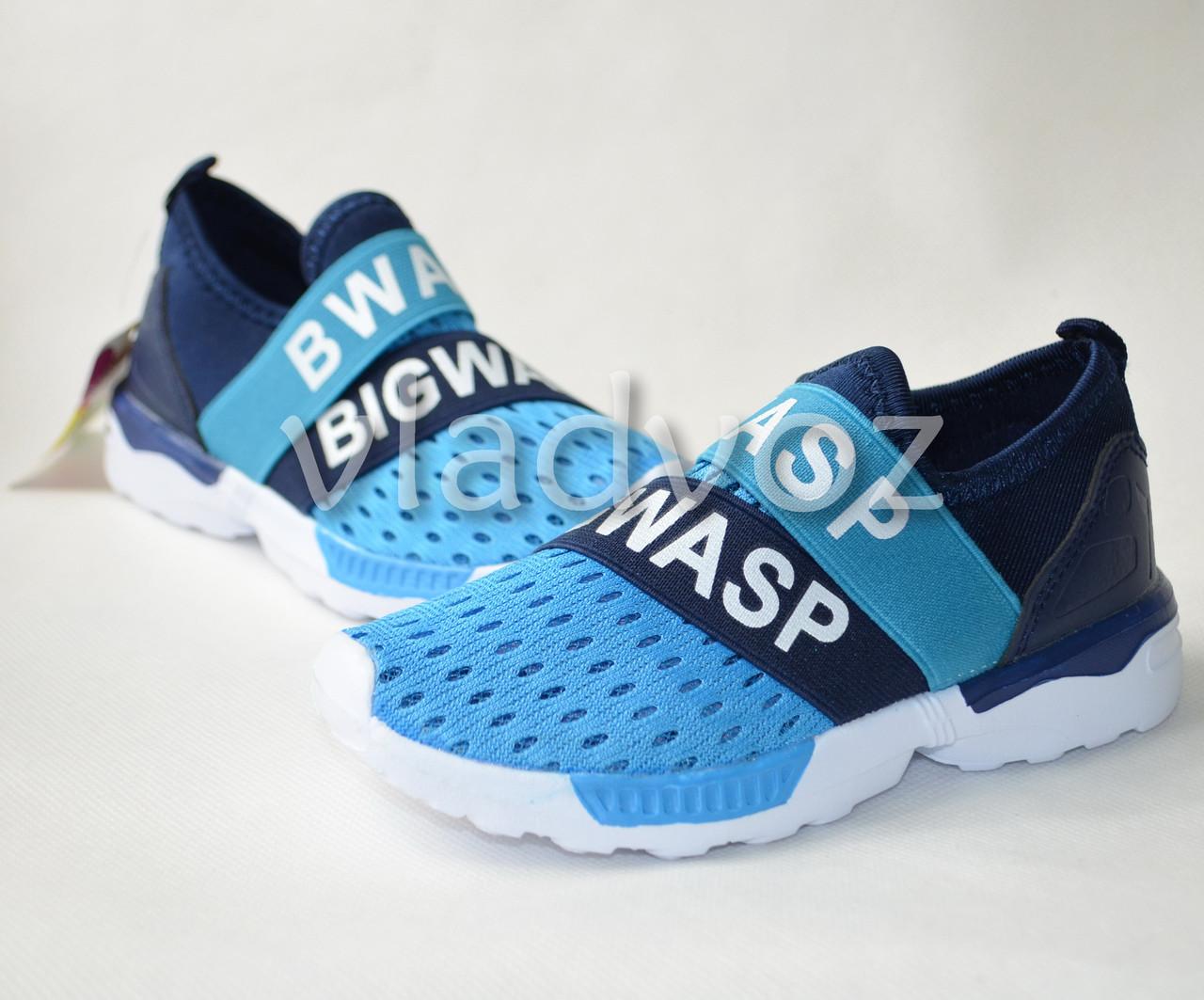 Кроссовки для мальчика синяя сетка модель 28р.