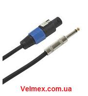 Готовый акустический кабель 2х1,5 мм² спикон ↔ 1/4 джек BIG SC005 1,5 mm 5m
