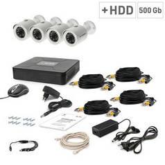 Комплект видеонаблюдения Tecsar 4OUT+500ГБ HDD