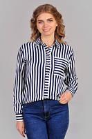 Классическая женская рубашка в полоску