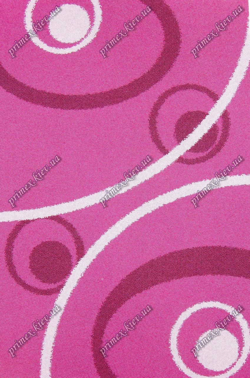 """Высоковрсный килим Шаггі """"Всесвіт"""", колір темно-рожевий"""