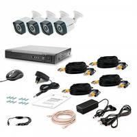 Комплект видеонаблюдения Tecsar AHD 4OUT LIGHT