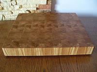 Кухонная торцевая разделочная доска 30х30х3 см из дуба С30x30