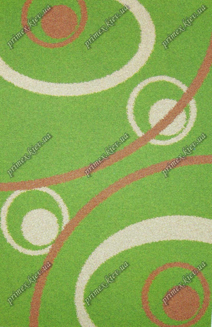 """Высоковрсный ковер Шагги """"Вселенная"""", цвет зеленый"""