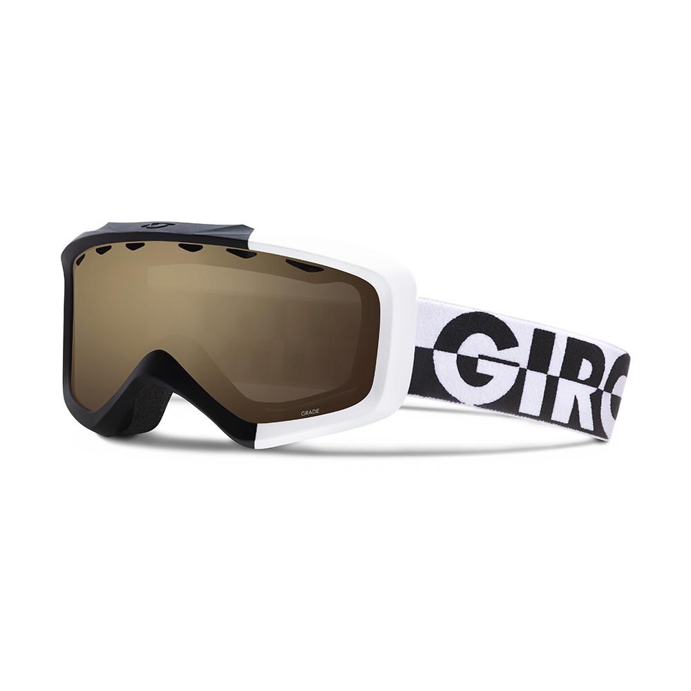 Горнолыжная маска Giro Grade Flash чёрная/белая 50/50, Amber Rose 40% (GT)