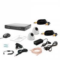 Комплект видеонаблюдения Tecsar AHD 2IN-3M DOME