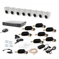 Комплект видеонаблюдения Tecsar AHD 8IN-3M DOME