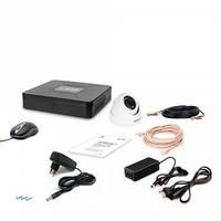 Комплект видеонаблюдения Tecsar AHD 1OUT-2M-AUDIO DOME