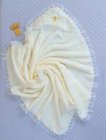 Крестильная пеленка-уголок, молочная