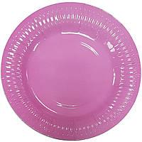 Тарелки бумажные розовые 10шт.
