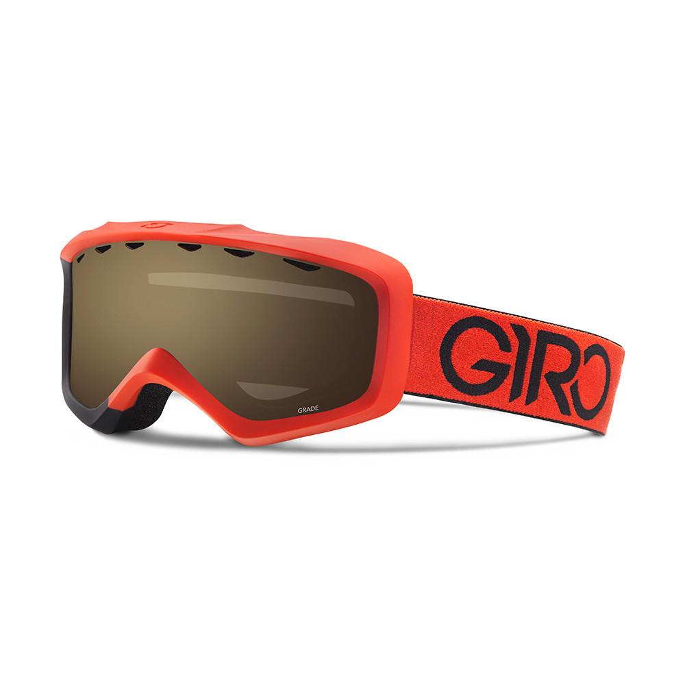 Горнолыжная маска Giro Grade красная/чёрная Dual, Amber Rose 40% (GT)