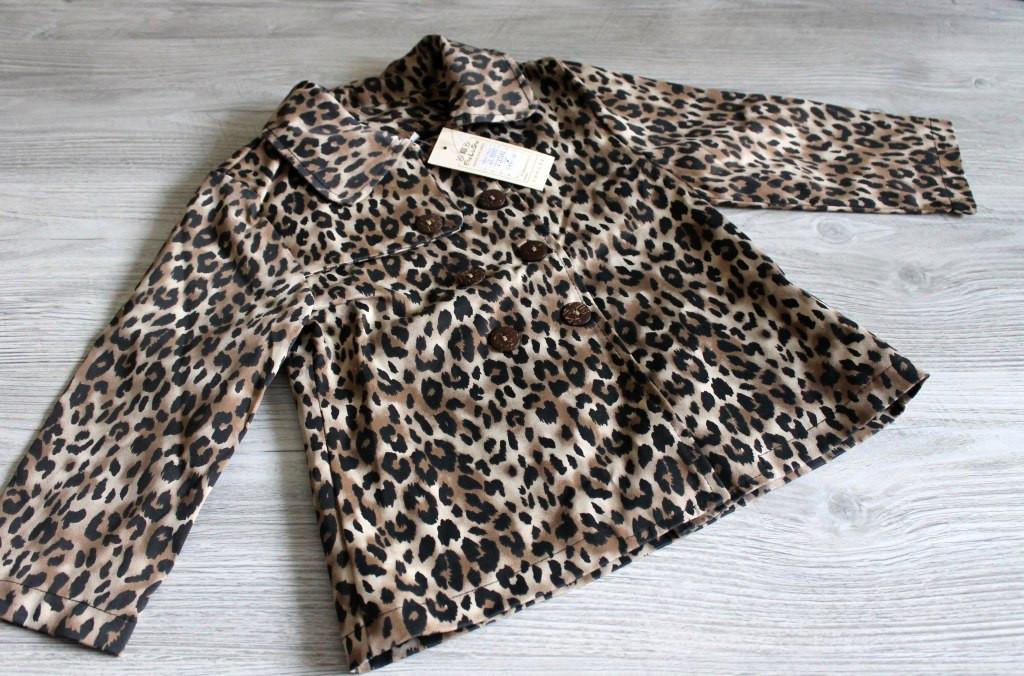 Леопардовый плащик на девочку - интернет магазин детской обуви и одежды в Днепре