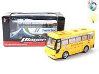 Автобус,муз,свет,батар пластик, Коробка с открытым окном, 14.00x6.50x7.00см, 3-6 ()