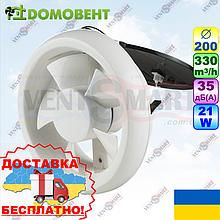 Оконный (форточный) вентилятор Домовент 200 ОК