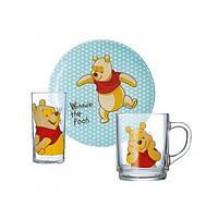 Luminarc Disney Winnie Colors.Набор посуды для детей(кр.250мл,тар.19см,стак.270 мл). Детская посуда Люминарк