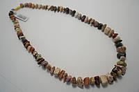 Ожерелье женское из натуральных камней - яшма пейзажная