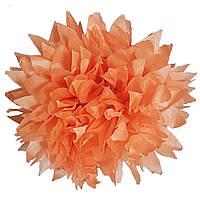 Помпон оранжевый 35 см свадебный