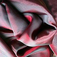 Тюль полуорганза (бордо с черным переливом)