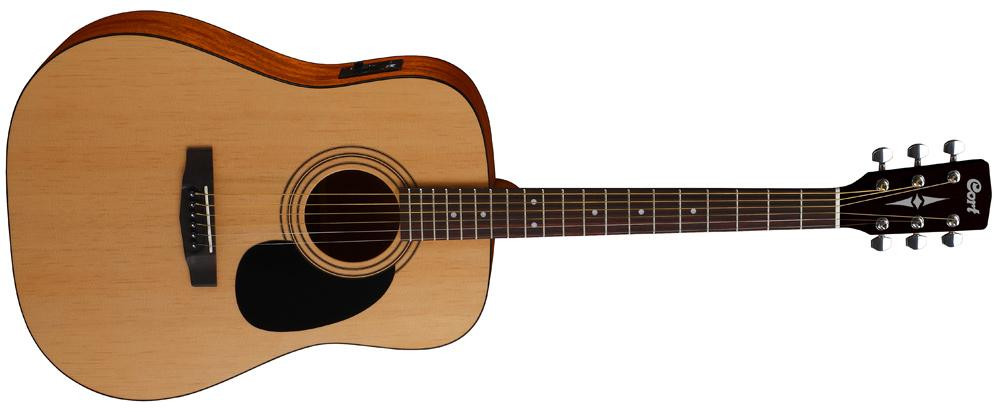 Акустическая гитара с датчиком Cort AD810E Open Pore